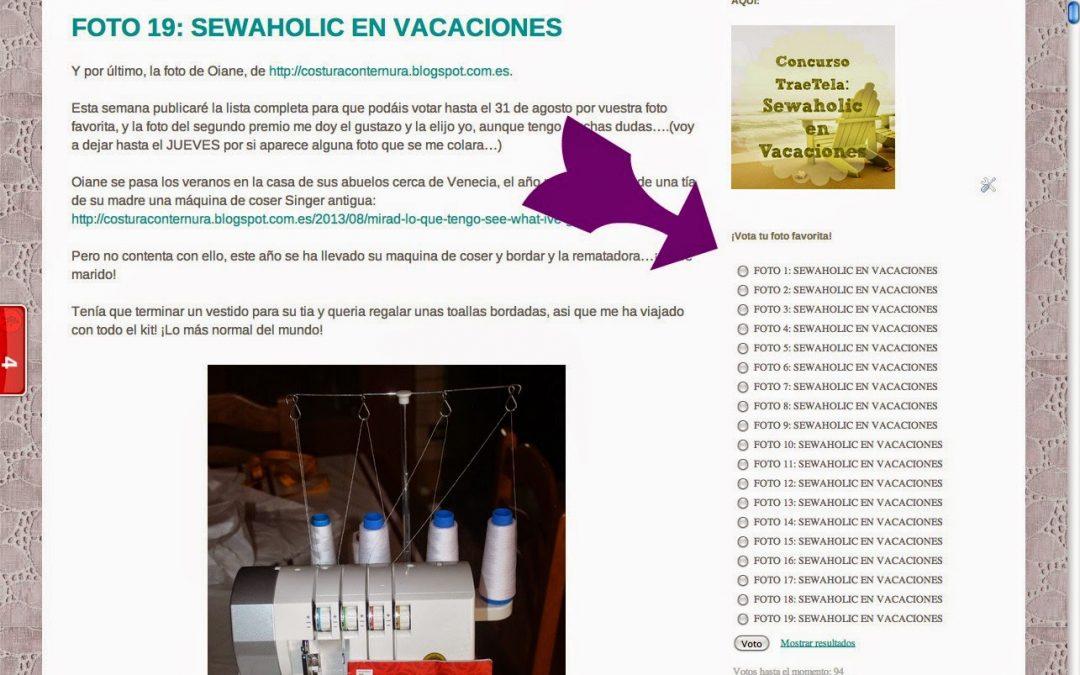 DUDAS VOTACIONES SEWAHOLIC EN VACACIONES
