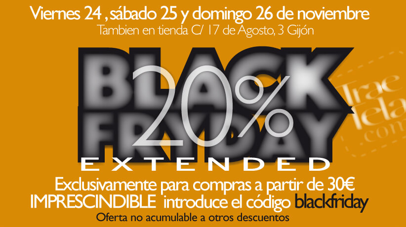 TELAS, TELAS Y MÁS TELAS AL 20% DE DESCUENTO: BLACK FRIDAY