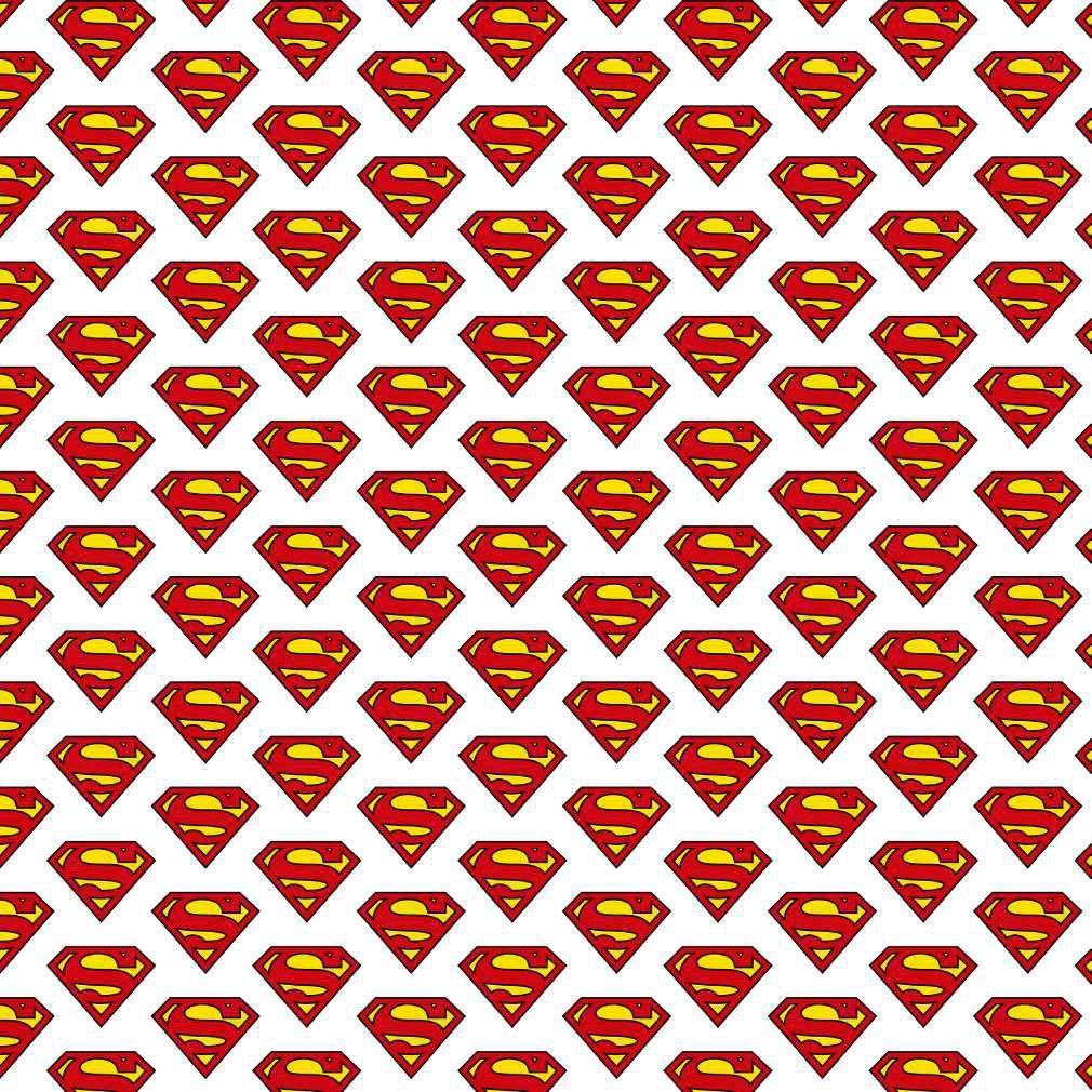 POPELÍN LICENCIA ESCUDO DE SUPERMAN . Ancho 140 CM